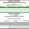 Control de Calificaciones PRIMARIA 1° a 3°