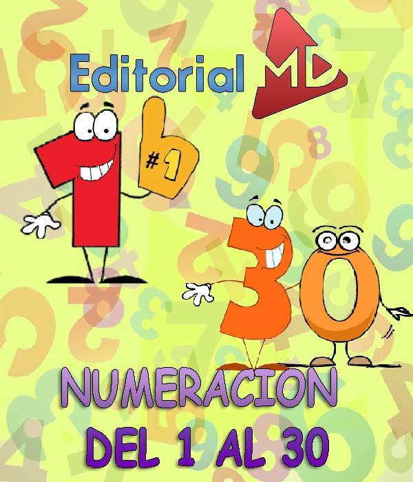 Numeracion del 1 al 30 MATERIAL PARA IMPRIMIR