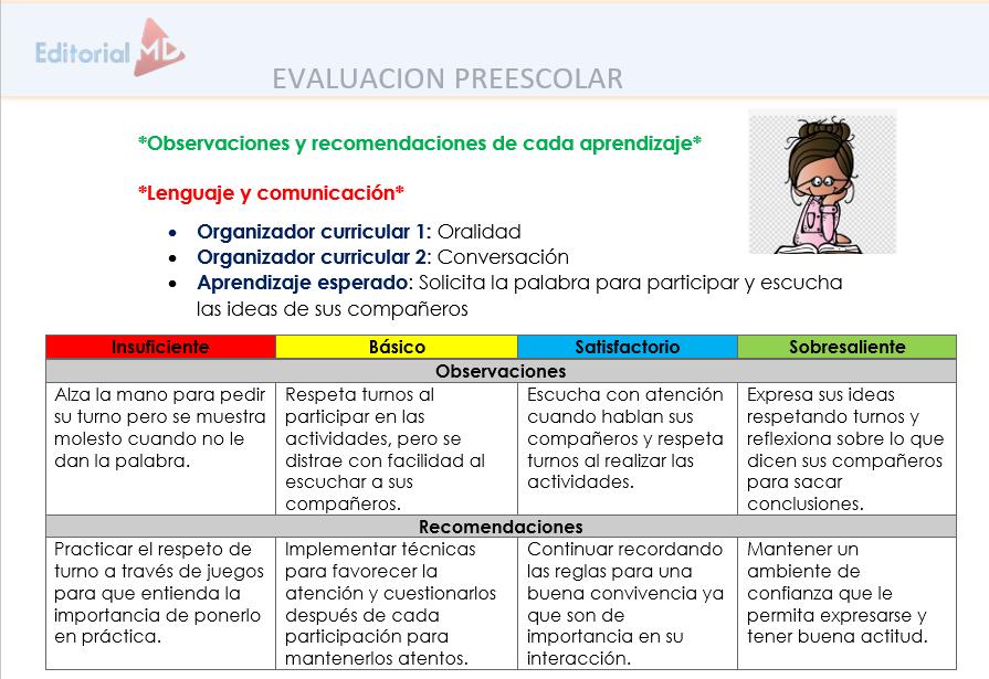 recomendacionesparael reportedeevaluaciónpreescolar2019-2020