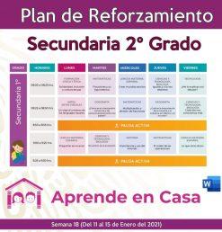 plan de reforzamiento 2 grado de secundaria