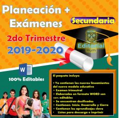 Planeaciones Secundaria Historia 2 (Trimestre 2) 2019-2020