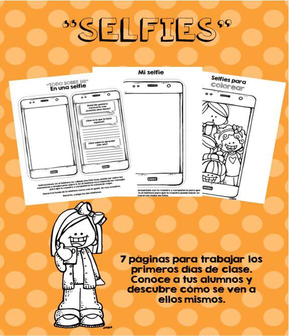 Todo Sobre Mí en una Selfie - Material para Imprimir
