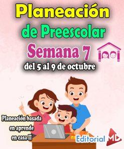 Planeación de Preescolar Aprende en casa 2 (Semana 7)