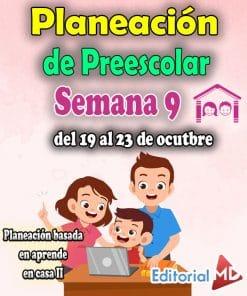planeacion semana 9 preescolar