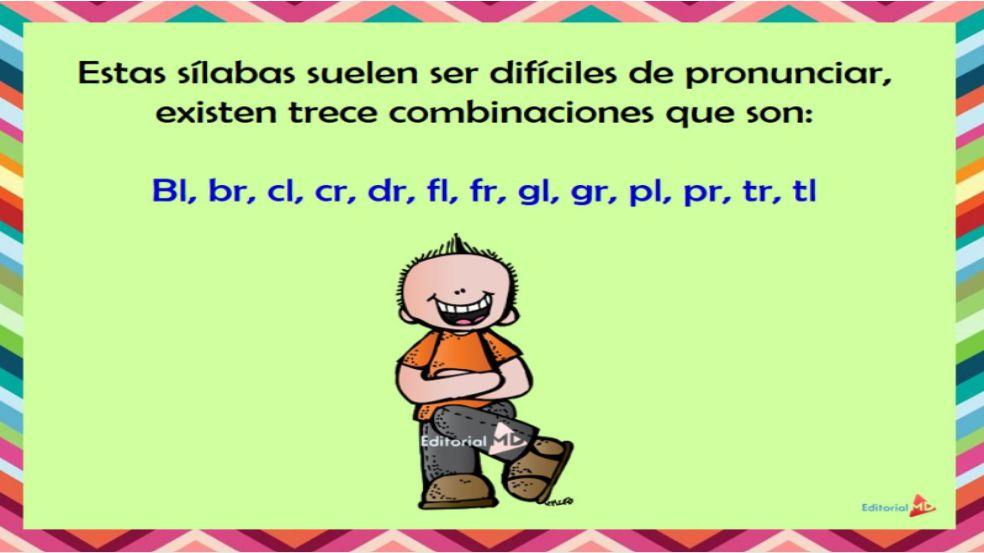 ejemplo de silabas trabadas