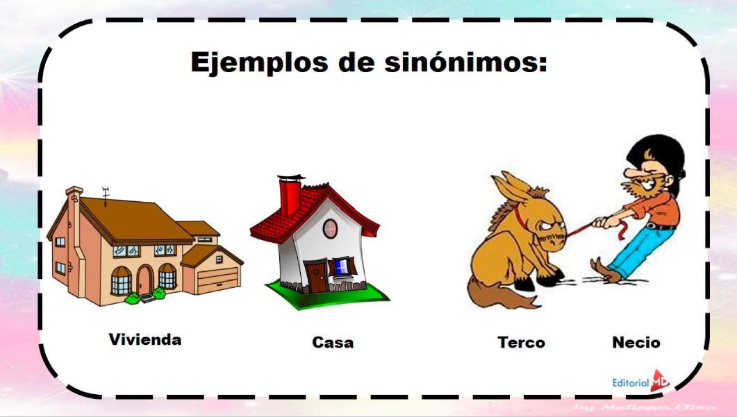 sinonimos para niños