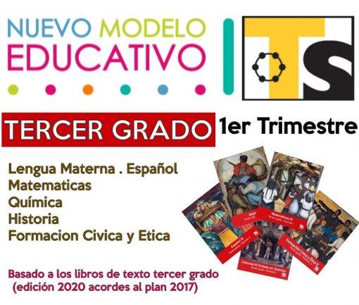 Planeaciones Telesecundaria 3° Grado 1er Trimestre (Paquete Acorde a Nuevos Libros) Modelo 2017