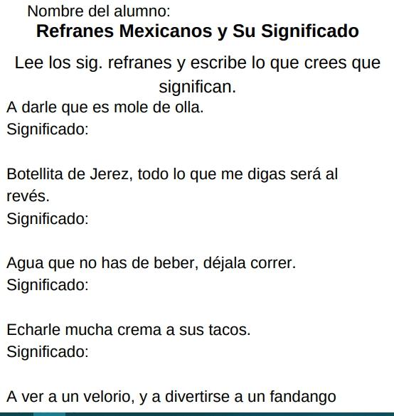 Refranes de mexico