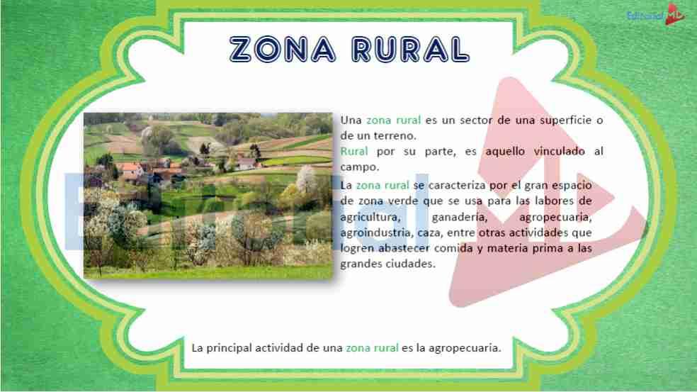 Diferencia Entre Zona Rural y Urbana Definicin para Nios